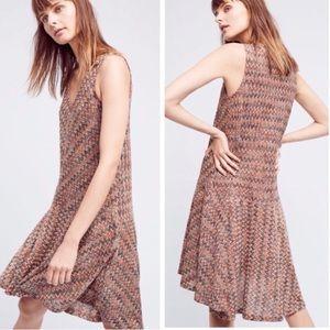 Anthropologie Maeve Westwater Chevron Knit Dress